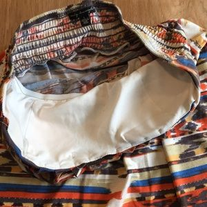 City Triangles Dresses - Tribal print strapless dress